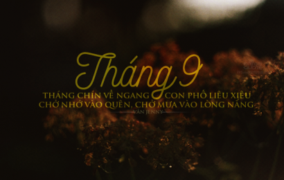 THÁNG CHÍN KHÔNG ANH
